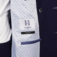 Load image into Gallery viewer, Harry Brown Two Piece Slim Fit Double-Breasted Suit in Blue Pinstripe