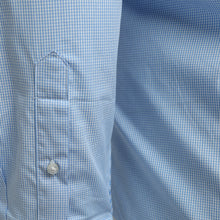 Load image into Gallery viewer, Penguin Cotton Blue Mirco Check Shirt