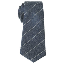 Load image into Gallery viewer, Penguin Silk Navy Stripe Tie