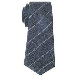 Penguin Silk Navy Stripe Tie