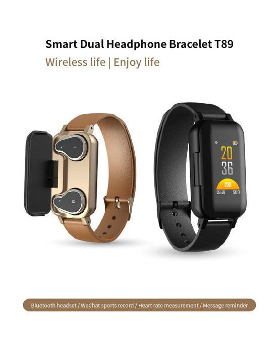 2-in-1 Smartwatch with Wireless Bluetooth Earbuds