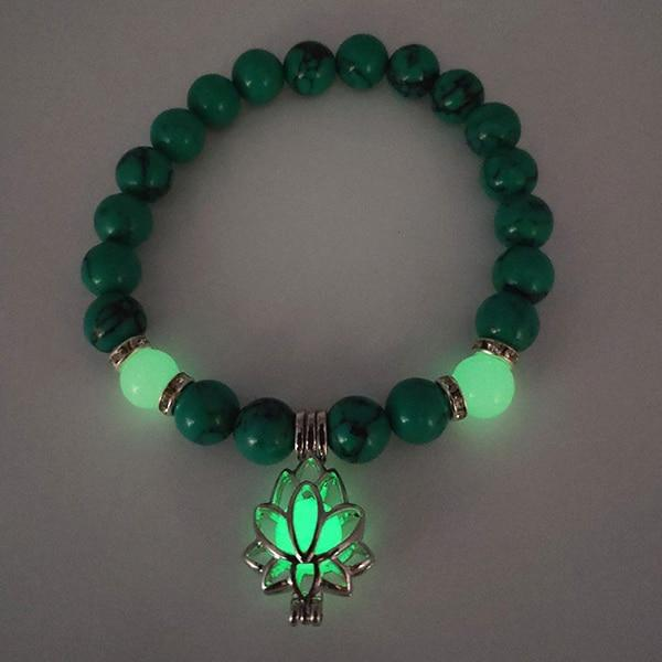 Lotus Glow In The Dark Bracelet