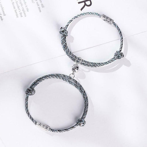 2Pc Magnetic couple bracelet