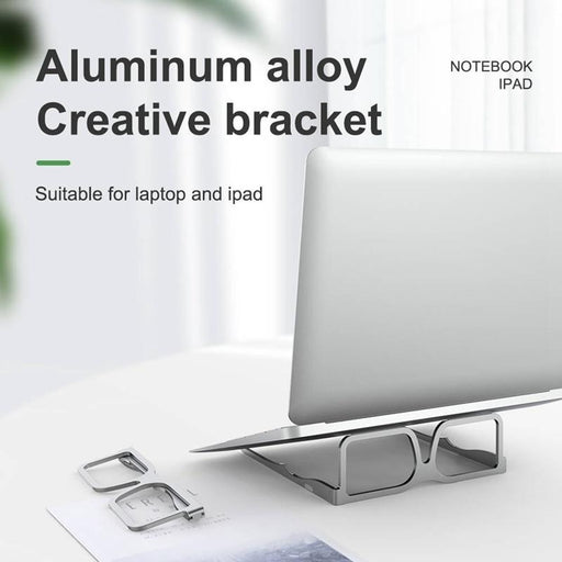 Foldable Aluminum Alloy Glasses Style Laptop Stand, Tablet and Book