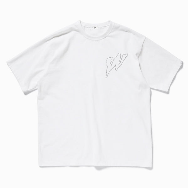 """W"" 3M Reflective logo t-shirt (2 side)"