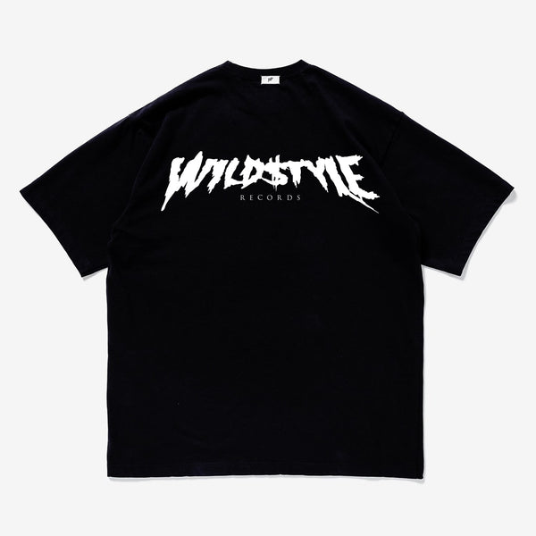 """Wildstyle Records"" original logo T-shirt (Black / White)"