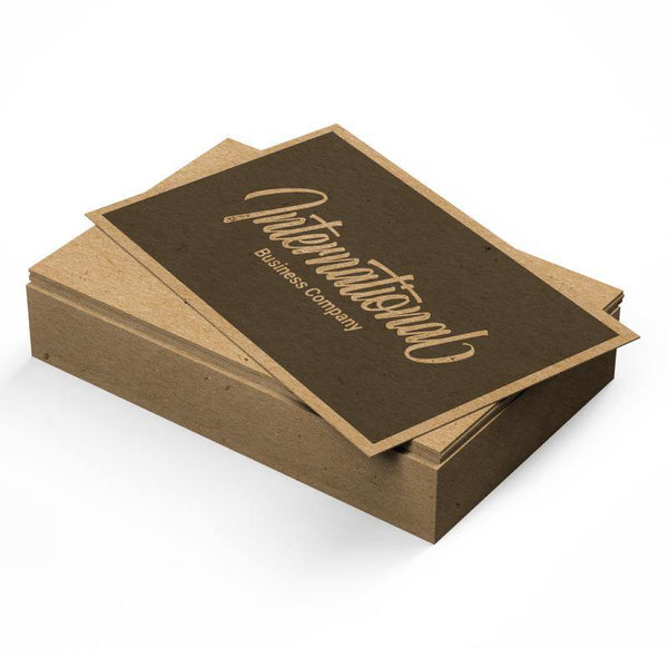 18pt Kraft Recycled Business Cards - The Business Box