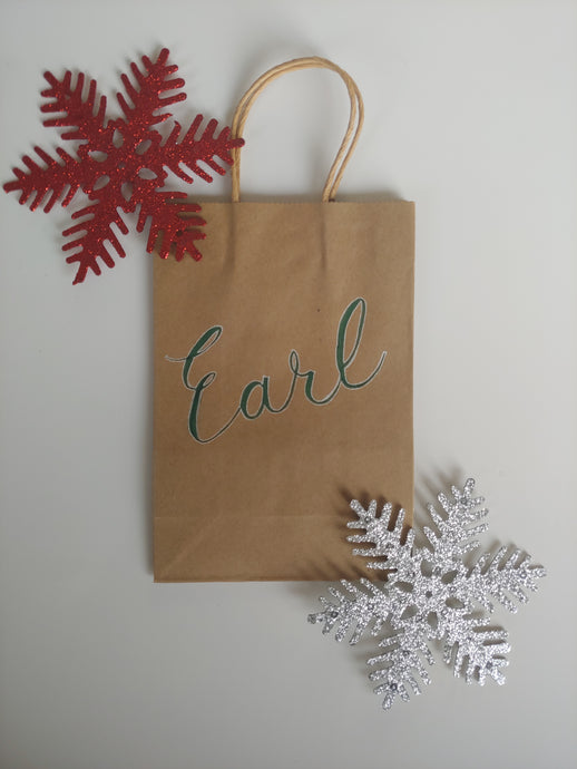 Personalized Kraft Gift bags