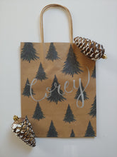 Load image into Gallery viewer, Personalized Christmas Tree Gift Bag