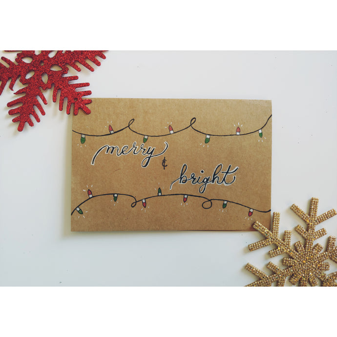 Christmas card made of Kraft paper
