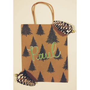 Personalized Christmas Tree Gift Bag