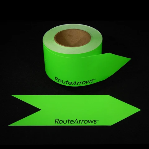 RouteArrows: 9 Vivid Colors–250/Roll–Under 50¢ Per Arrow!