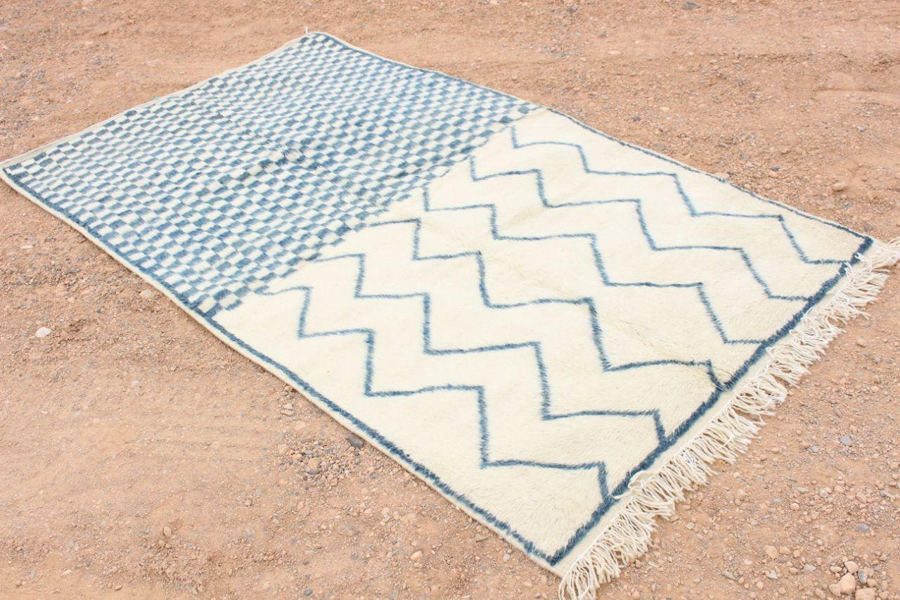 Light blue Moroccan rug