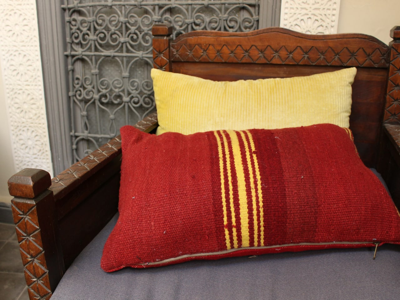 Moroccan pillow.