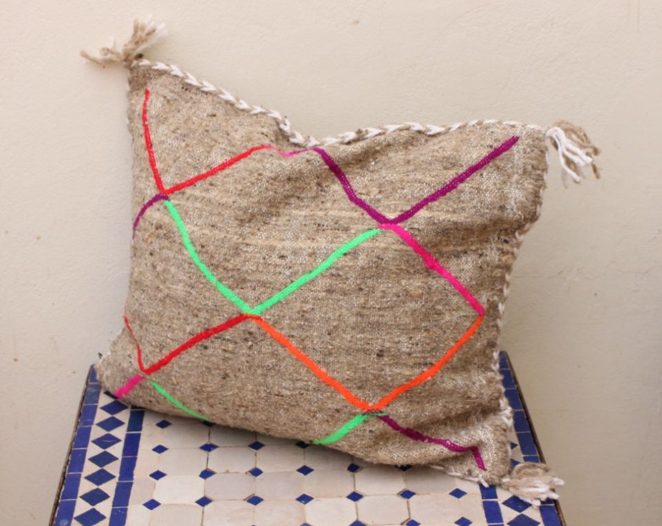 Kilim Moroccan cushion.