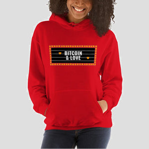 Bitcoin & Love Hoodie - The Bitcoin Shop