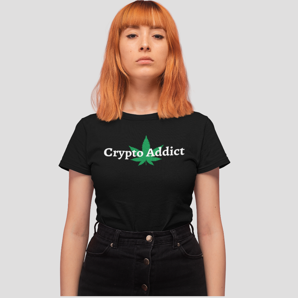 Crypto Addict T-Shirt Woman - The Bitcoin Shop