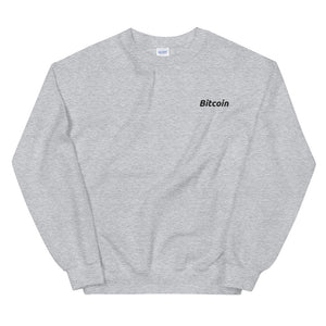 Bitcoin Embroidered Sweatshirt - The Bitcoin Shop