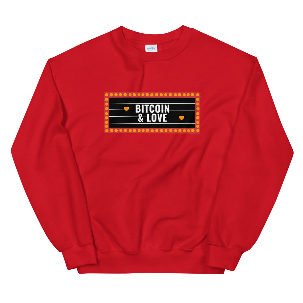 Bitcoin & Love Sweatshirt Woman - The Bitcoin Shop