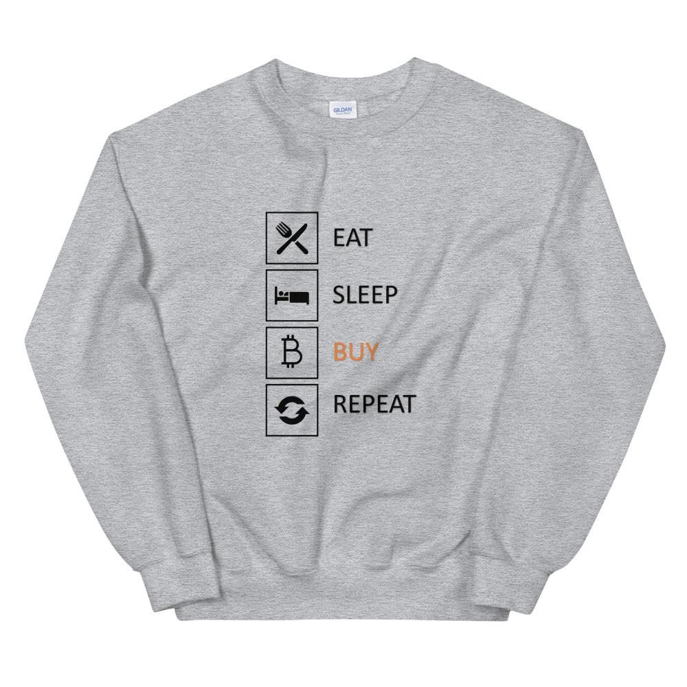 Buy & Repeat Sweatshirt - The Bitcoin Shop