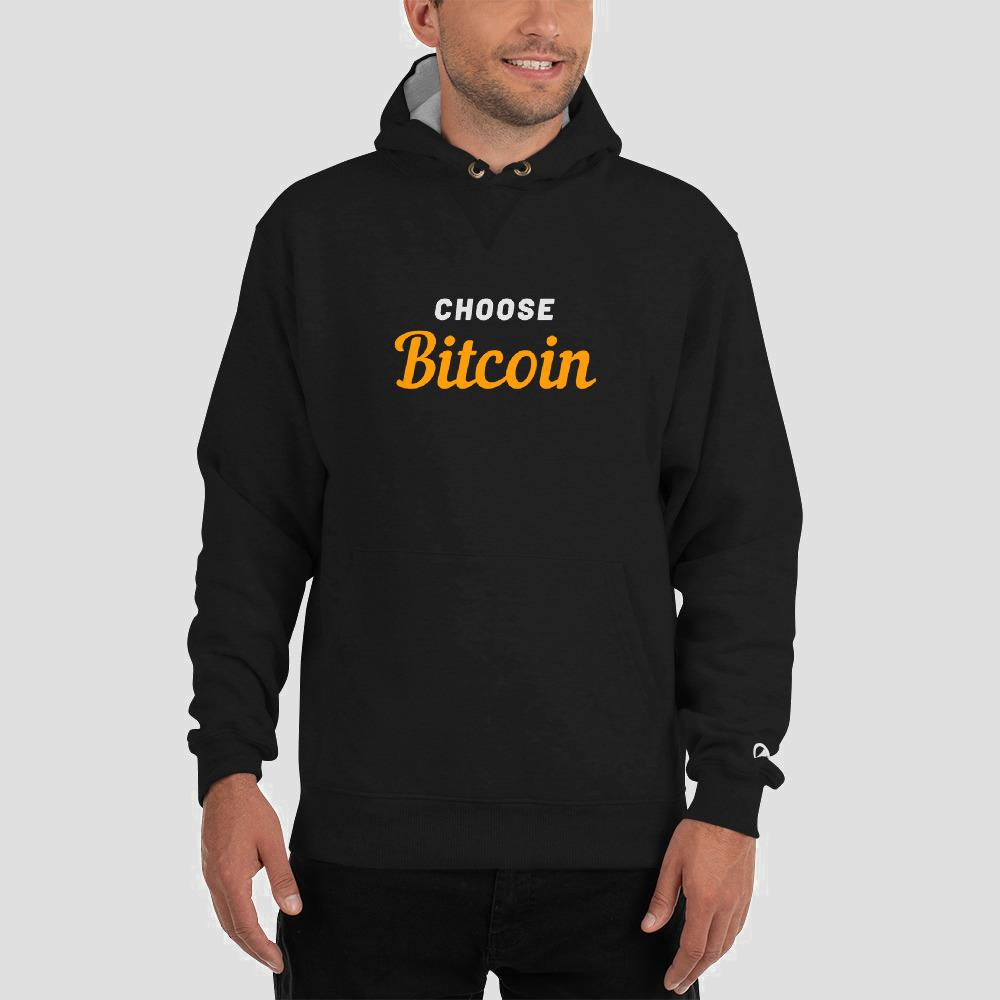 Bitcoin & Champion Hoodie Collaboration - The Bitcoin Shop