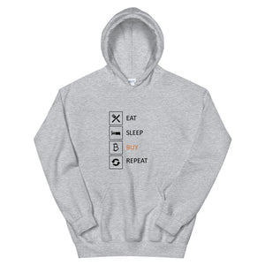 Buy & Repeat Hoodie - The Bitcoin Shop