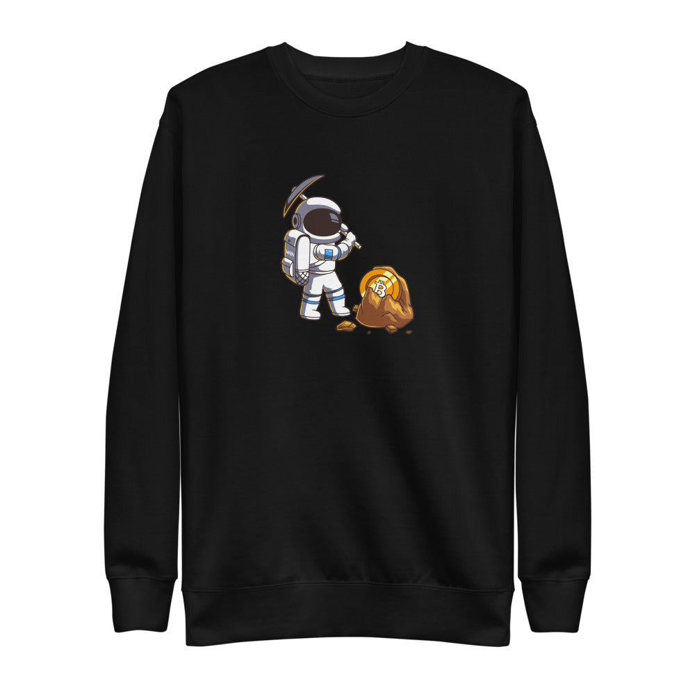 Miner Unisex Premium Sweatshirt Heritage - The Bitcoin Shop