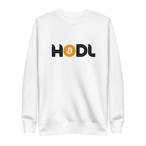HODL Unisex Premium Sweatshirt Heritage - The Bitcoin Shop