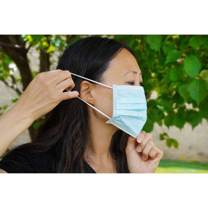 Load image into Gallery viewer, Almine 3-Ply Face Mask One Size 10ct Light Blue