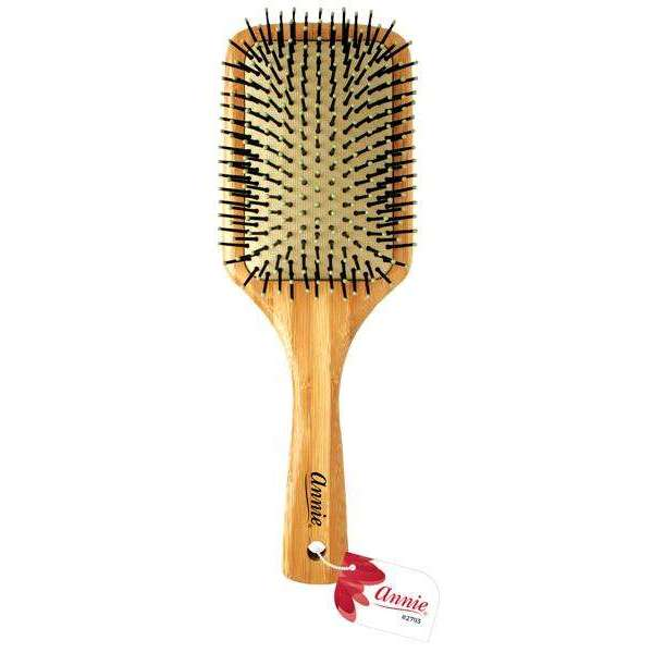 Annie Bamboo Cushion Paddle Brush Nylon Bristle
