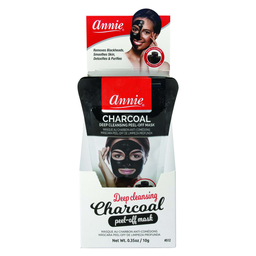 Annie Charcoal Deep Cleansing Peel Off Mask Mini Pouch Display 24ct Black