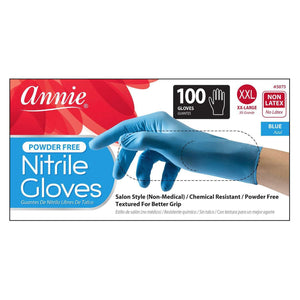 Load image into Gallery viewer, Annie Nitrile Gloves 100ct Blue