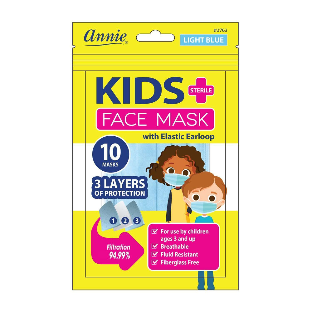 Annie Sterile Children's Face Mask 10ct Light Blue
