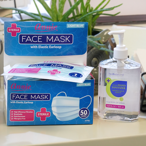 Load image into Gallery viewer, Annie Sterile Face Mask One Size Individual Wrap 50 ct