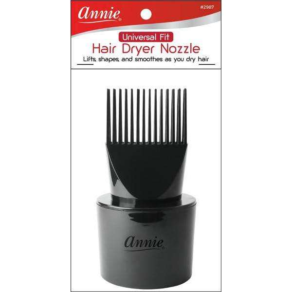 Annie Universal Fit Hair Dryer Nozzle Black