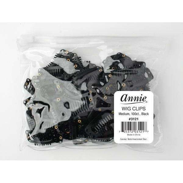Annie Wig Clips M 100Ct Black Bulk
