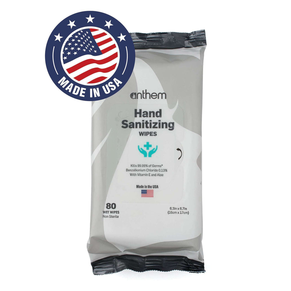 Anthem Antibacterial Hand Wipes 80ct
