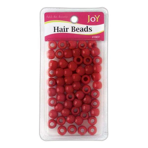 Joy Big Round Beads Large Size 60Ct Red