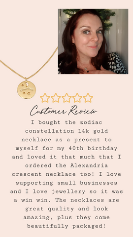 star sign constellation gold plated necklace