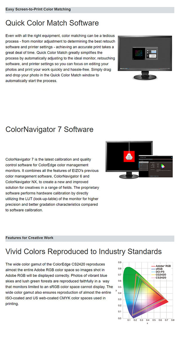 ColorMall Eizo ColorEdge CS2420 Monitor Features
