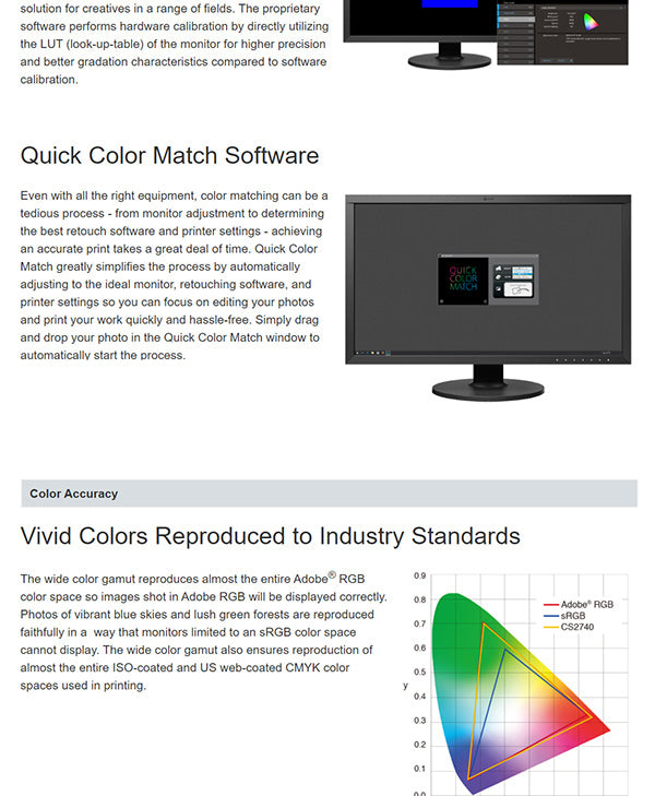 ColorMall Eizo ColorEdge CS2740 Features