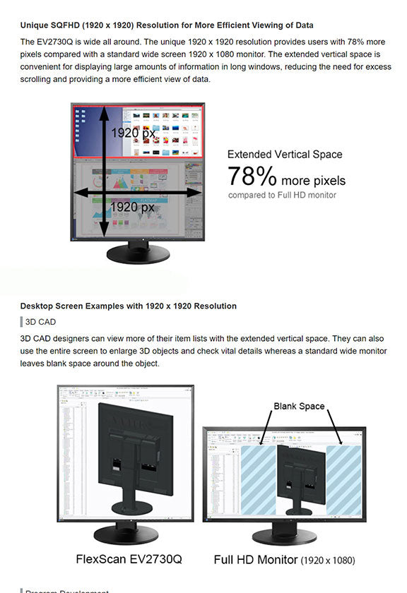 ColorMall Eizo FlexScan EV2730QFX-BK Monitor Features