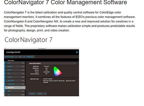 ColorMall Eizo ColorEdge CG2420 ColorNavigator 7