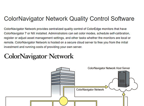 ColorMall Eizo ColorEdge CG2420-BK ColorNavigator Network