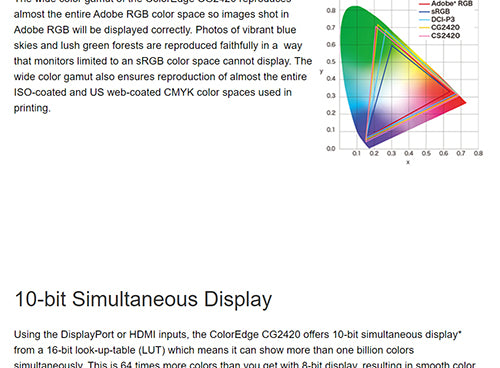ColorMall Eizo ColorEdge CG2420-BK Adobe RGB