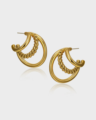 Tripple earrings by Queen and Collection