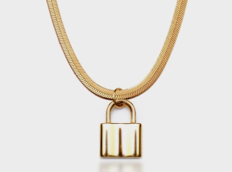 padlock necklace by Queen and Collection
