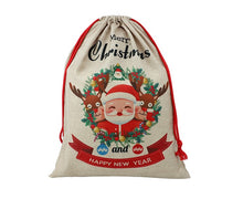 Load image into Gallery viewer, Linen Sublimation Santa Sack 50cm x 68cm Pack of 6