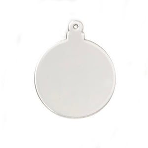"Acrylic Round Clear Ornament 3"" Pack of 10"