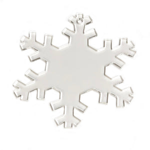 "Acrylic  Clear Snowflake Clear Ornament 3"" Pack of 10"